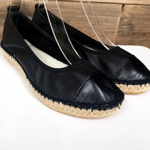 ANDRE ASSOUS platform Espadrilles leather 6.5